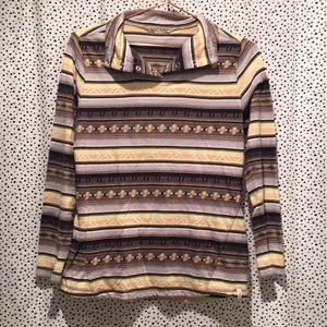 Woolrich s desert striped Aztec snap long sleeve